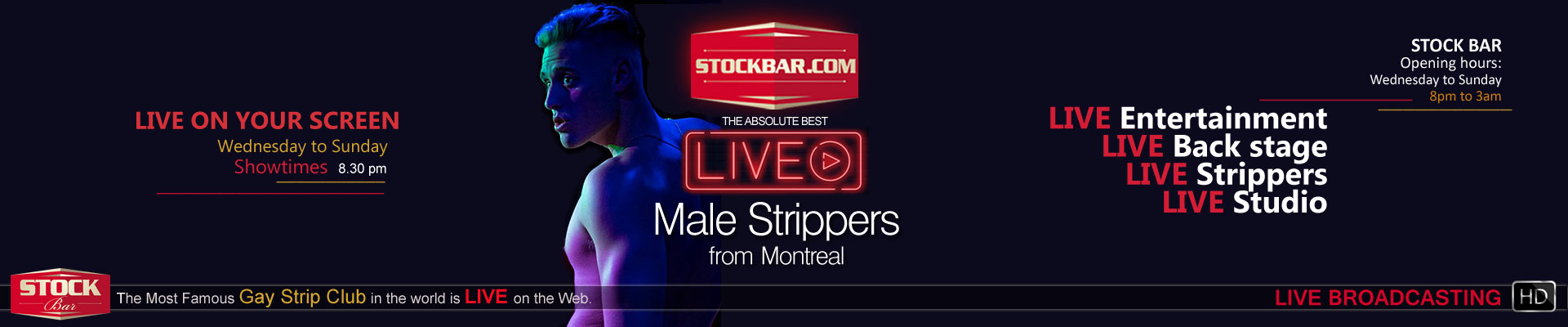 Gay Male Strip Club