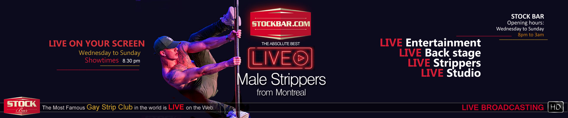 Become a male stripper