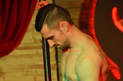 Video of sexy male stripper dominic