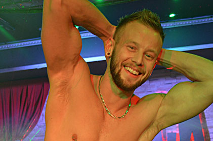 Video of sexy male stripper lex