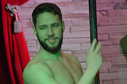 Video of sexy male stripper peter