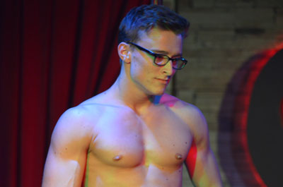 Video of sexy male stripper spencer
