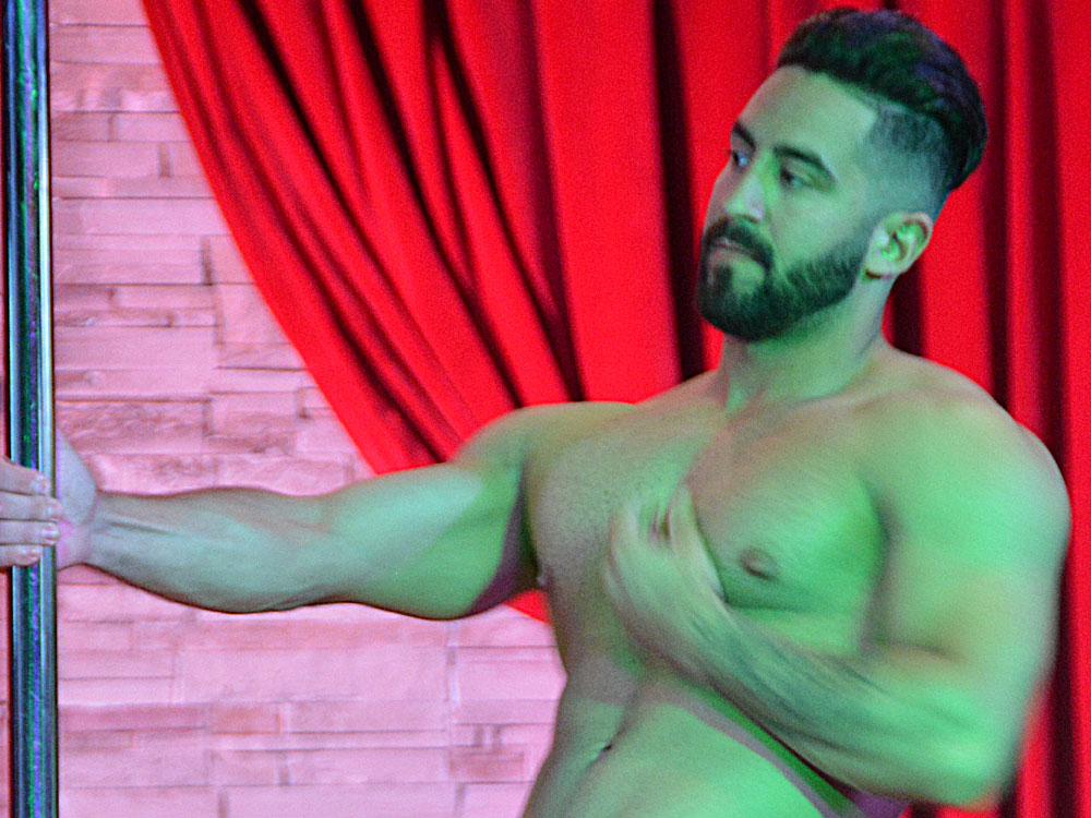 Video of sexy male stripper zack